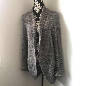 Silence and noise oversized gray knit cardigan